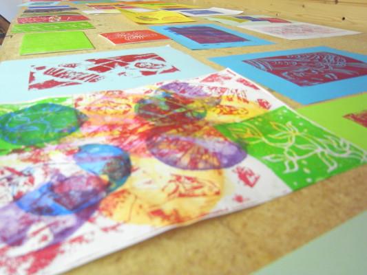 Farbenfrohes Drucken