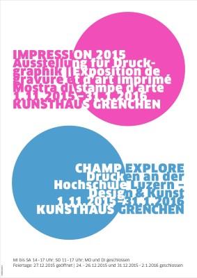 Plakat IMPRESSION 2015 & CHAMP EXPLORE.indd