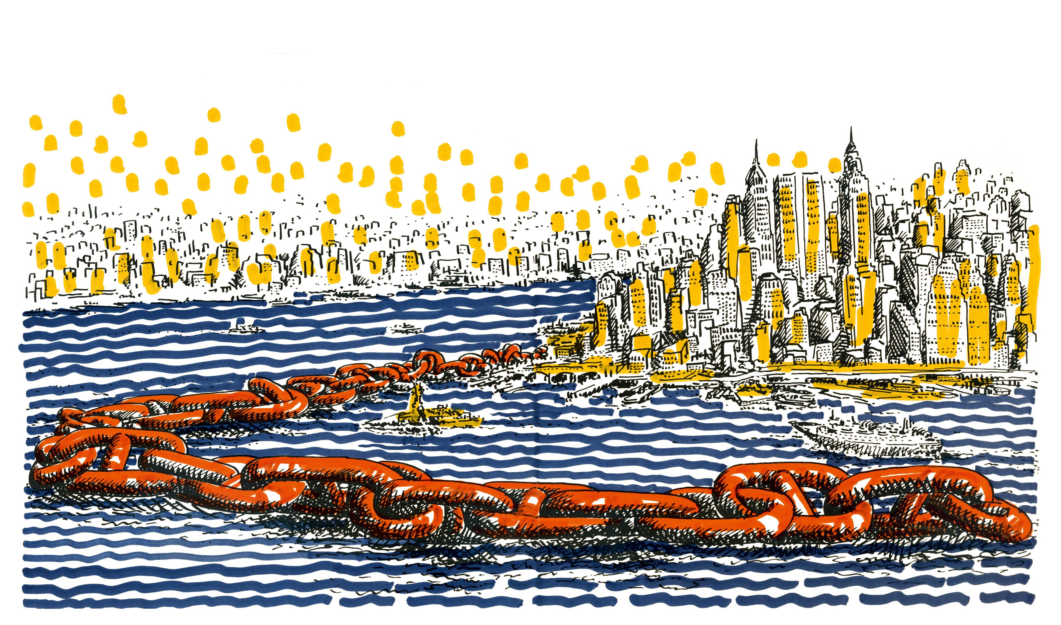 Peter Travaglini, New York Mappe, 1970-72, Serigraphie auf Papier, koloriert, Copyright: Nachlass Travaglini