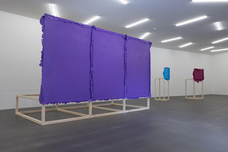 """Anna Amadio, """"Die Autonomie der Farbe - The closest I could get"""", Saalaufnahme mit Monet, Copyright: Amadio_Hadorn"""