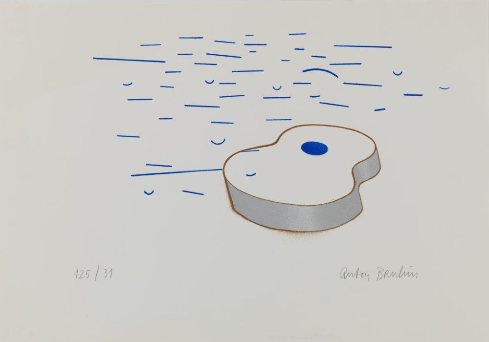 Anton Bruhin, Die Gitarre und das Meer, 1977, Cabinet d'arts graphiques des Musées d'art et d'histoire, Genève