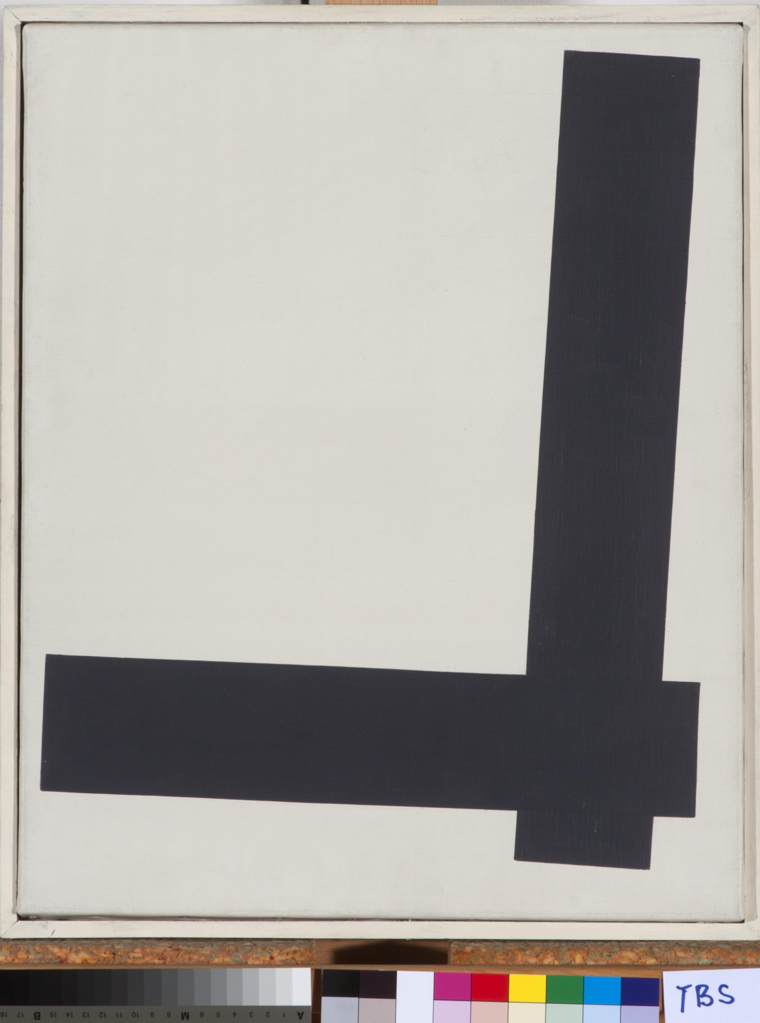 Theodor Bally, Stabkomposition (Nr. 8), 1963, Öl auf Leinwand