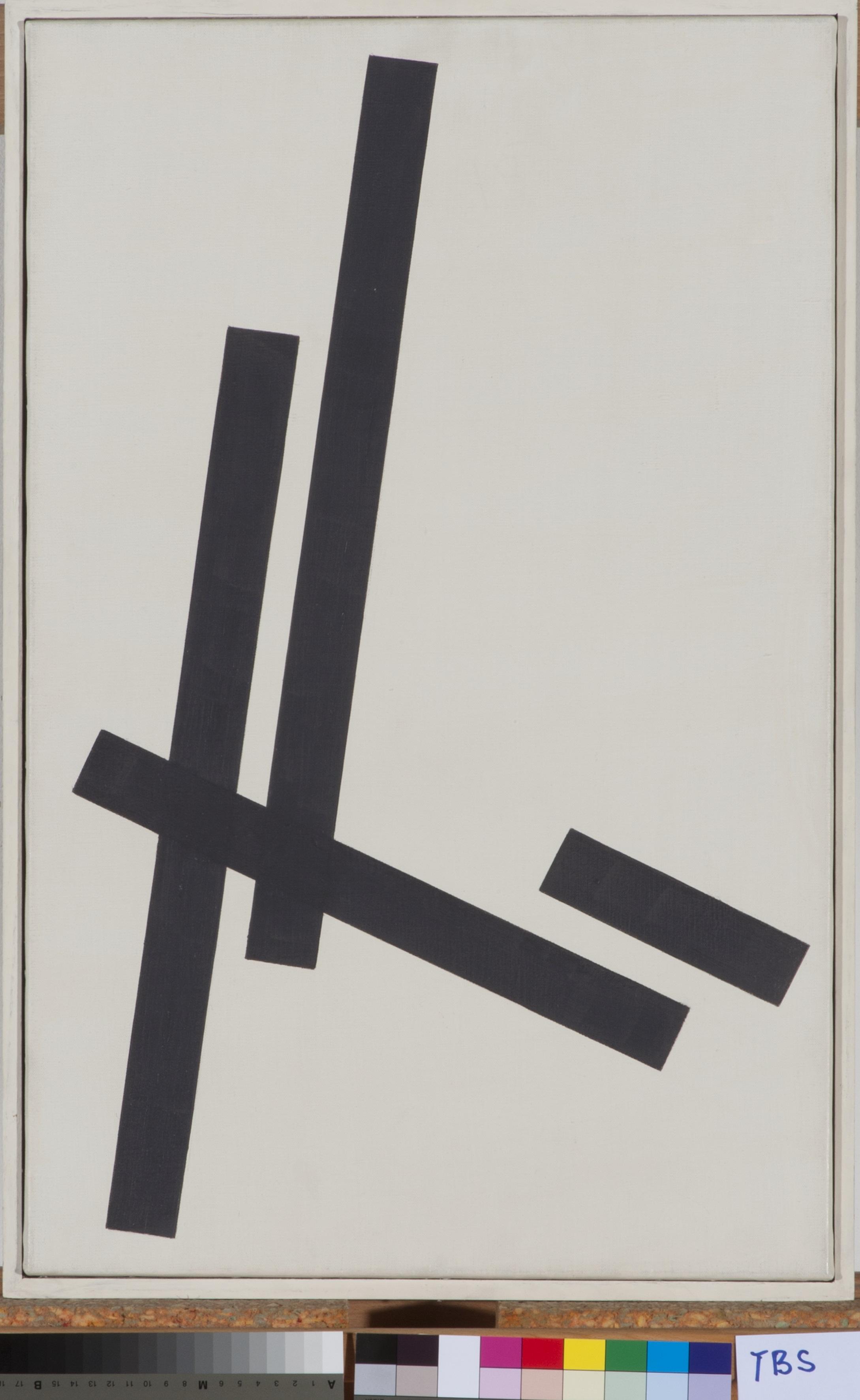 Theodor Bally, Stabkomposition (Nr. 4/83), 1963, Öl auf Leinwand