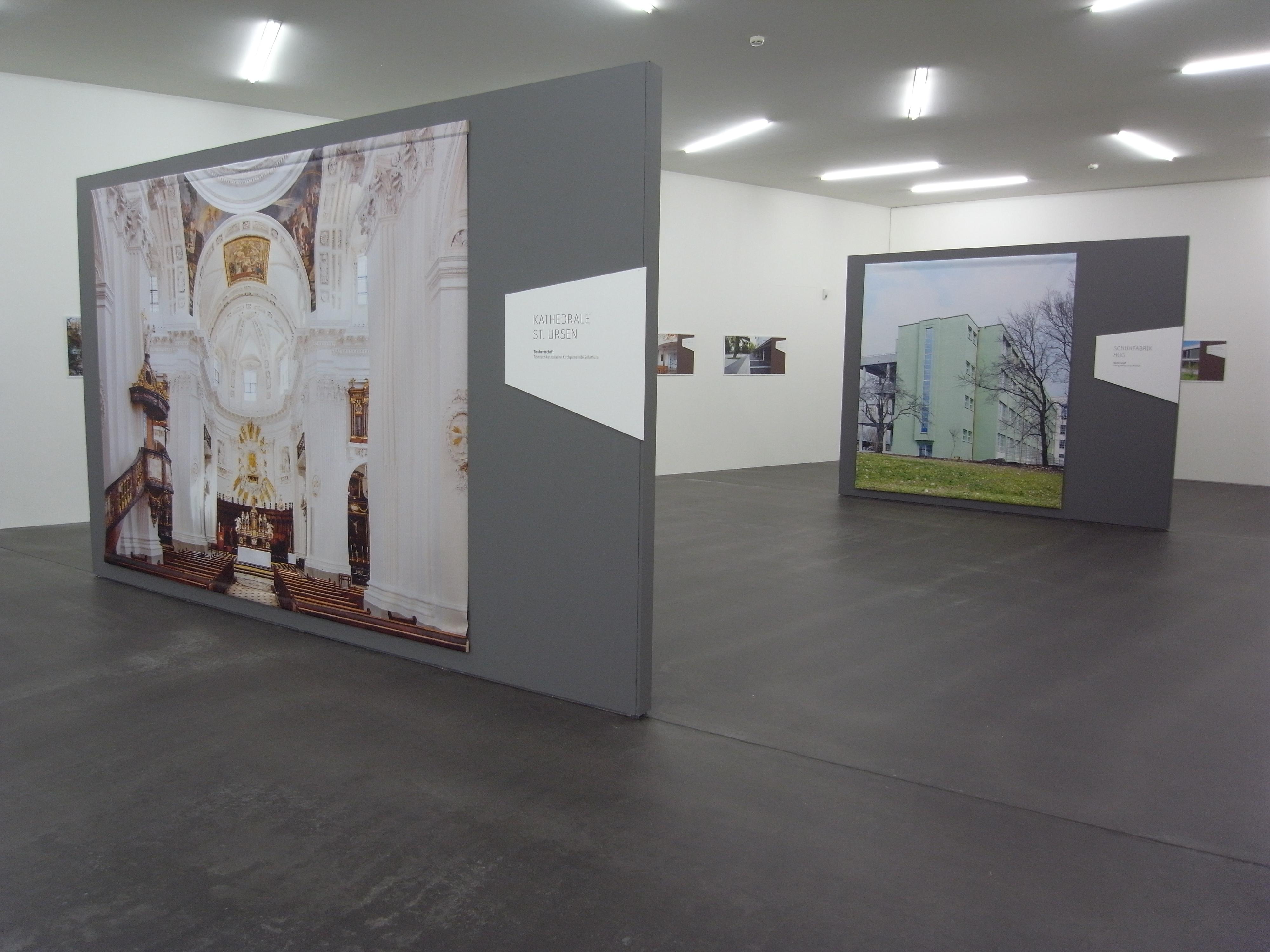 Architekturauszeichnungen 2013: Blick in die Ausstellung