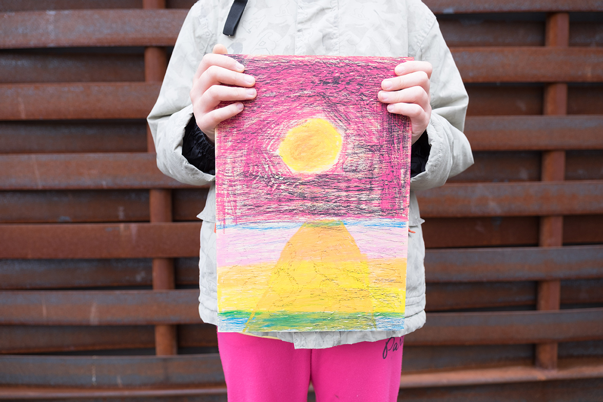 Diana (10), Neocolor auf Holz