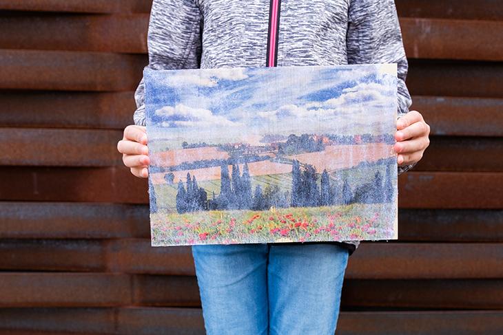 Siena (9), Fototransfer auf Holz