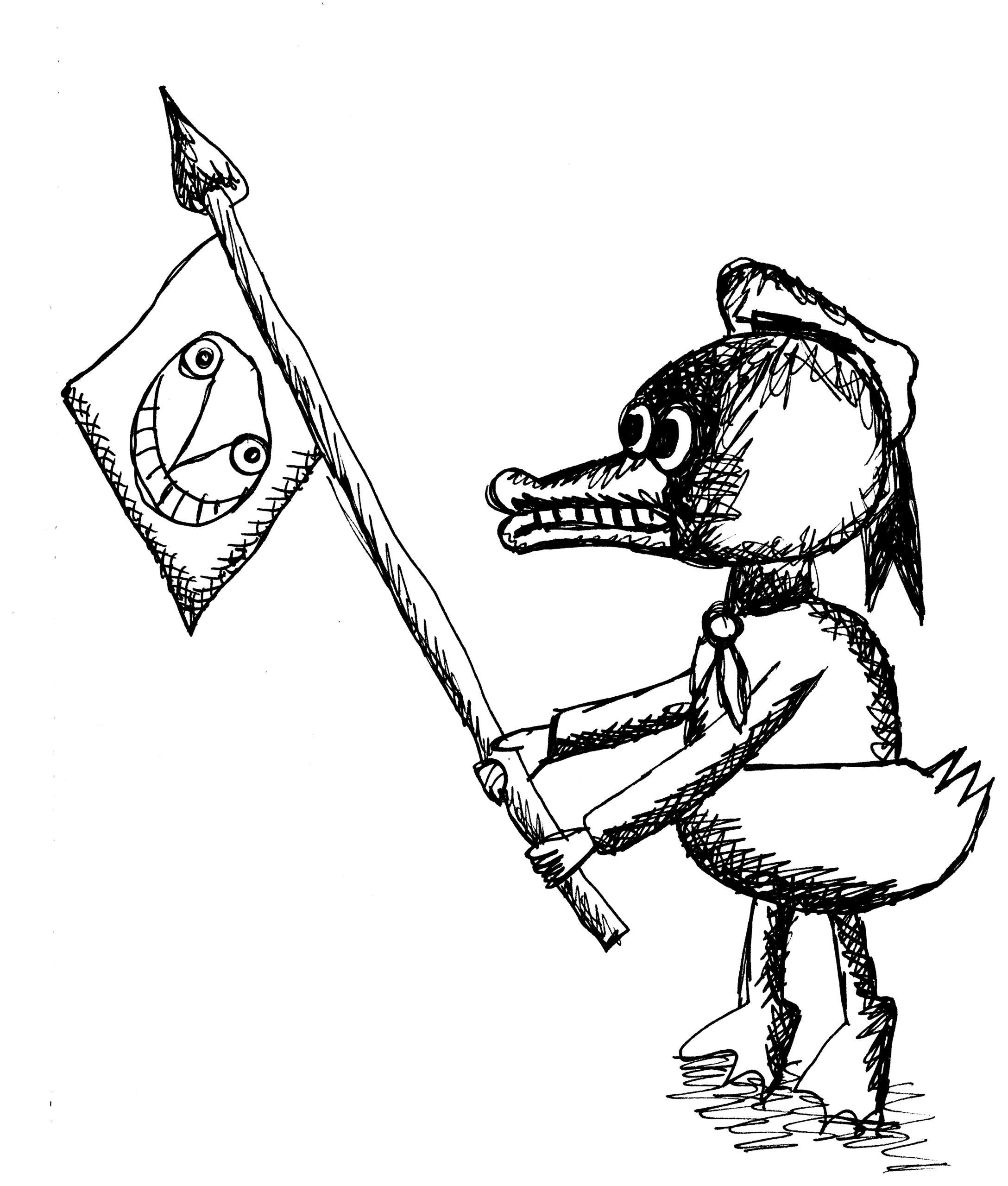 M.S. Bastian / Isabelle L., «Donald mit Flagge» © M.S. Bastian / Isabelle L.
