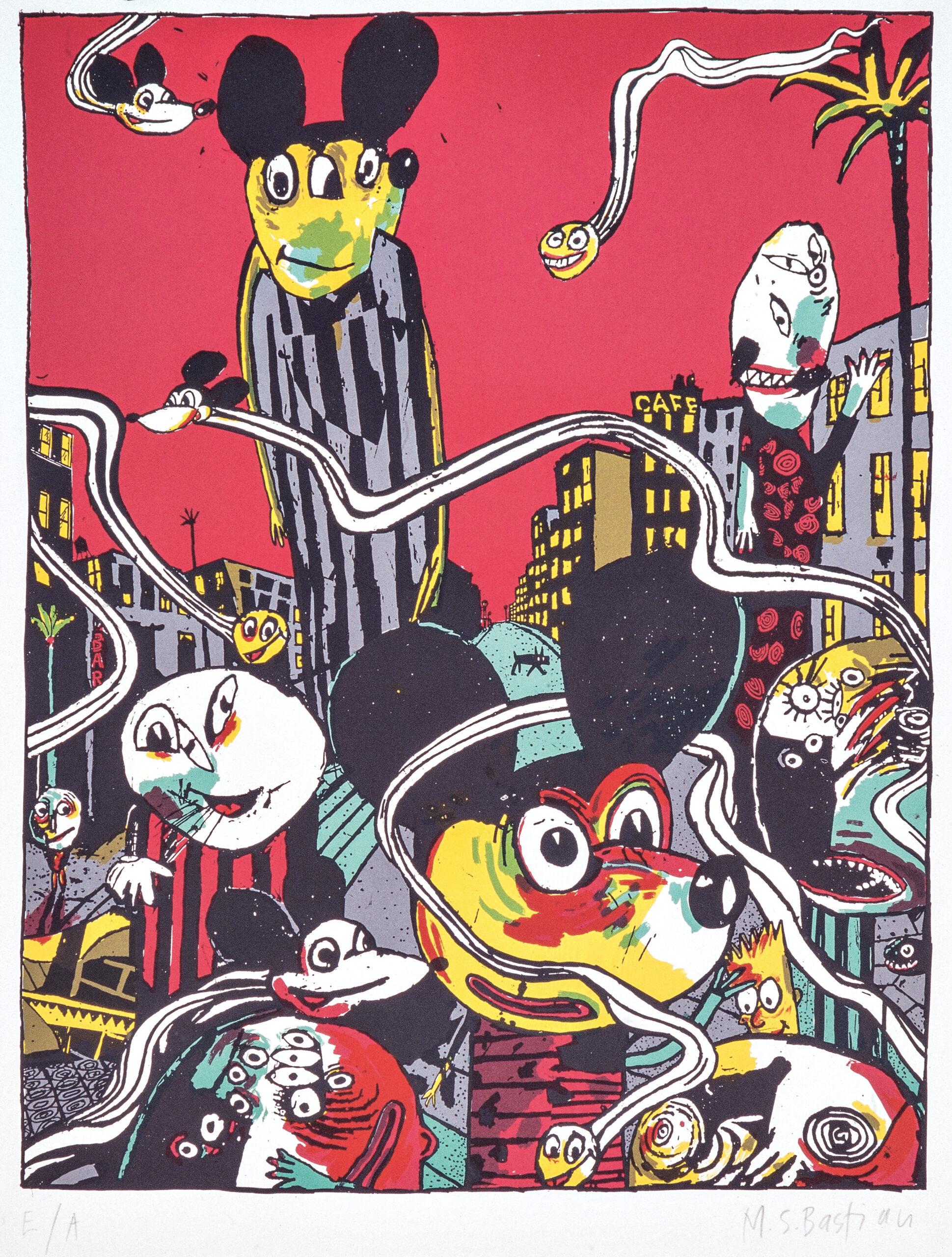 M.S. Bastian / Isabelle L., «Suchbild der Hund», 1993, Siebdruck © M.S. Bastian / Isabelle L.