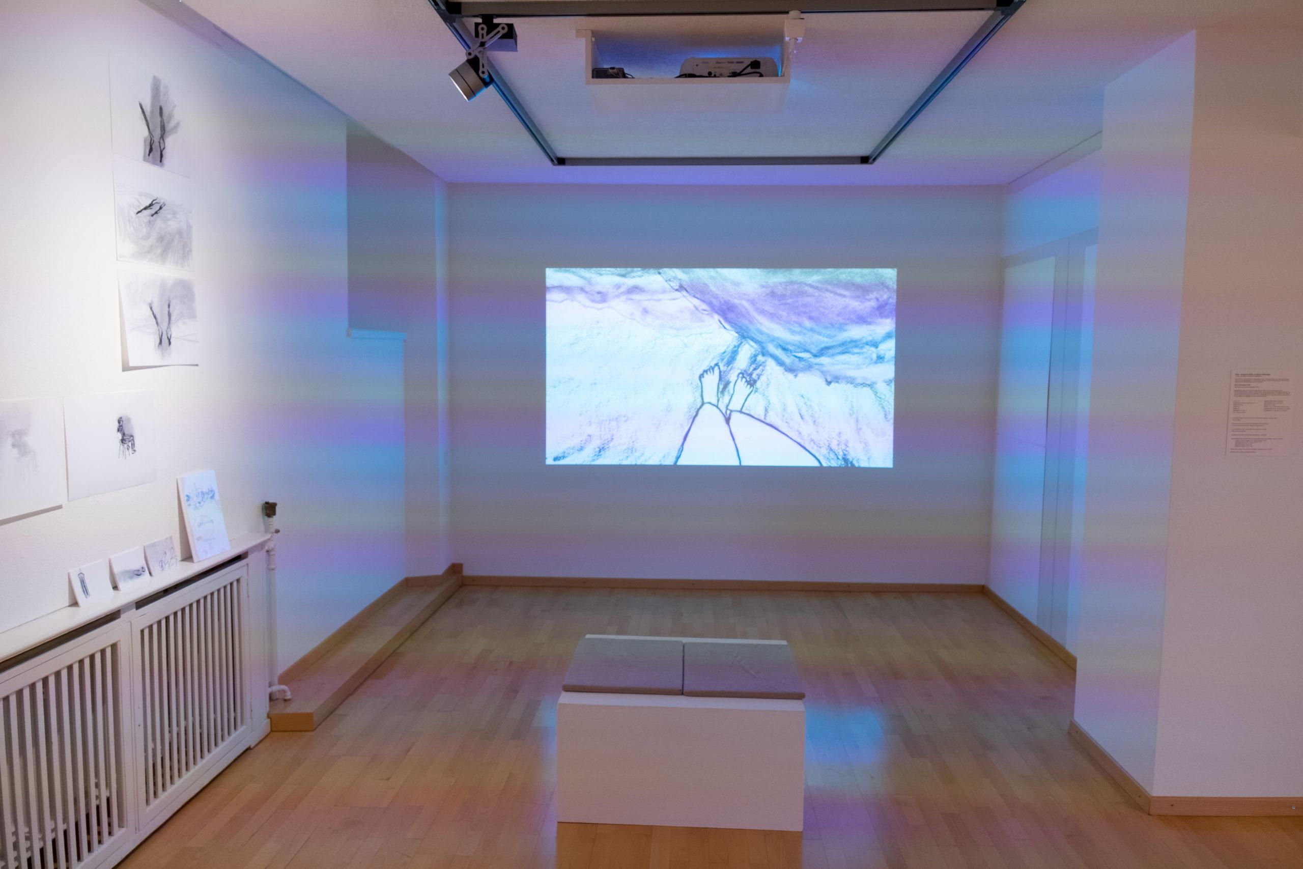 Ausstellungsansicht «20m2 – Fenster ins Atelier von Marion Nyffenegger», 22. März - 24. Mai 2020, Kunsthaus Grenchen, Foto: Laura Hadorn © Marion Nyffenegger und Kunsthaus Grenchen