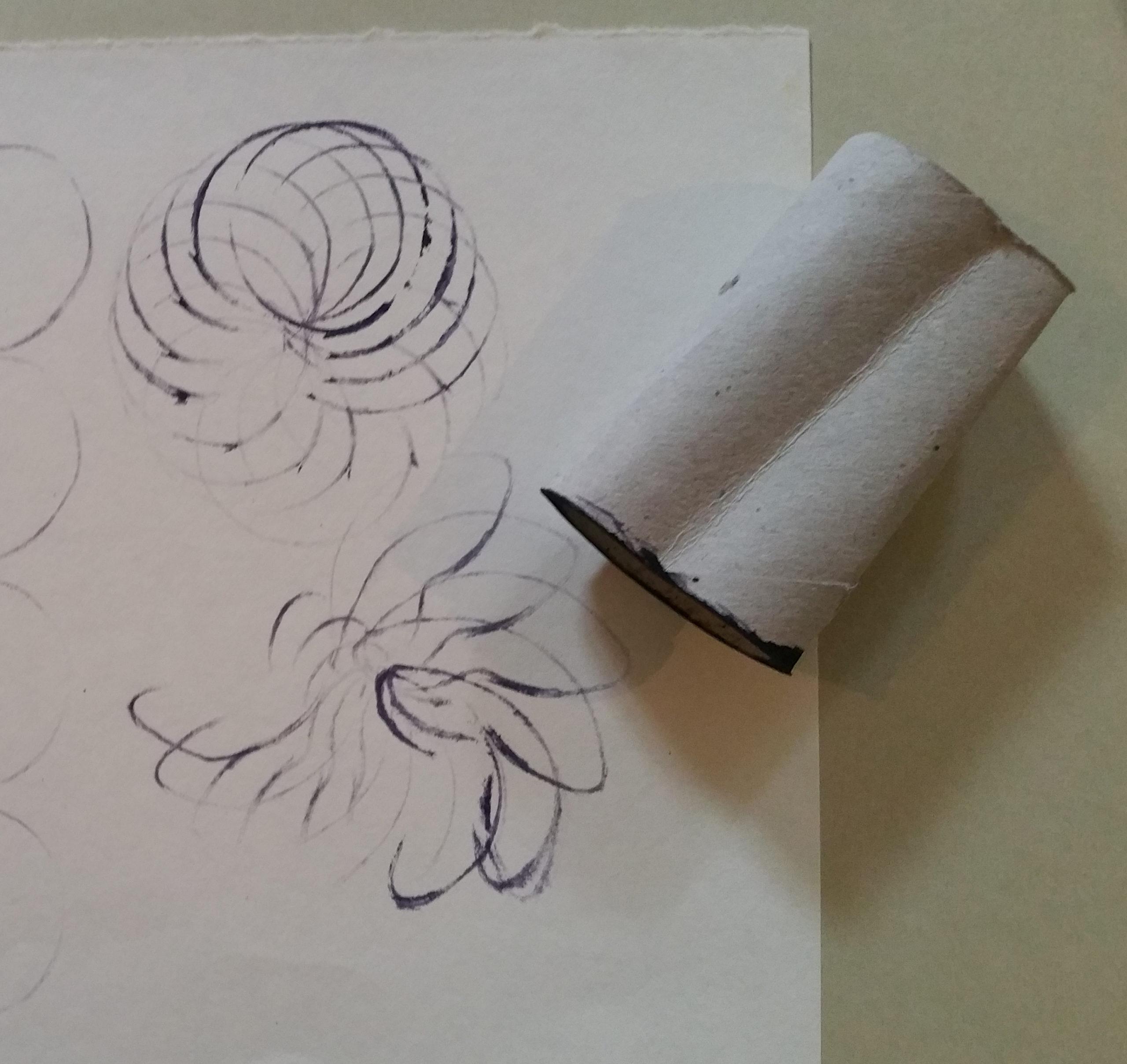 mit Papierrolle